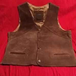 Brown Suede Vest Large